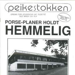 I 1992 avslører Peikestokken hemmeligholdte planer for Porse som omhandler ommbygging. Er disse planene fortsatt hemmelige?